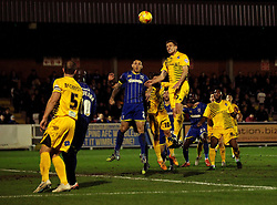 Lee Mansell of Bristol Rovers tries to get onto the end of a corner - Mandatory byline: Robbie Stephenson/JMP - 07966 386802 - 26/12/2015 - FOOTBALL - Kingsmeadow Stadium - Wimbledon, England - AFC Wimbledon v Bristol Rovers - Sky Bet League Two