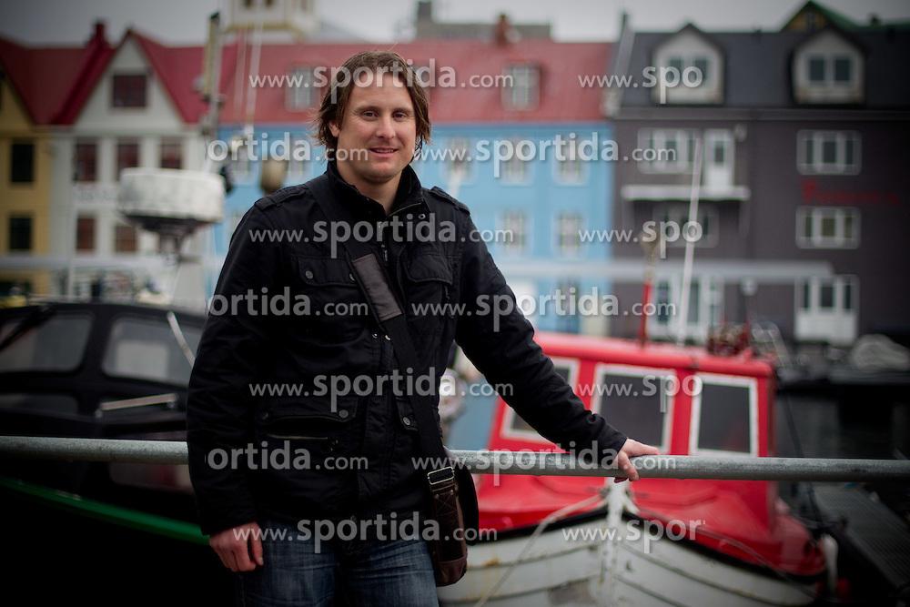 Stanislav Kuzma, Slovenian football goalkeeper at Faroe Islands, on June 1, 2011 in Torshavn, Faroe Islands. (Photo By Vid Ponikvar / Sportida.com)