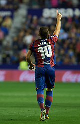May 13, 2018 - Valencia, Valencia, Spain - Enis Bardhi of Levante UD celebrates a goal during the La Liga match between Levante and FC Barcelona, at Ciutat de Valencia Stadium, on may 13, 2018  (Credit Image: © Maria Jose Segovia/NurPhoto via ZUMA Press)