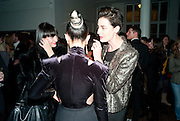 HANNAH MARSHALL; ALEX BOX; ERIN O'CONNOR, 30 Years Of i-D - book launch. Q Book 5-8 Lower John Street, London . 4 November 2010. -DO NOT ARCHIVE-© Copyright Photograph by Dafydd Jones. 248 Clapham Rd. London SW9 0PZ. Tel 0207 820 0771. www.dafjones.com.