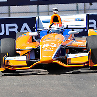 Charlie Kimball competing in Indycar 2012