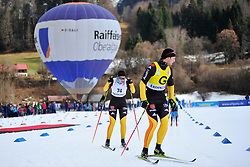HOSCH Vivian Guide: SCHLEE Normann, GER at the 2014 IPC Nordic Skiing World Cup Finals - Middle Distance