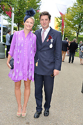 JAKE & ZOE WARREN at the Qatar Goodwood Festival - Ladies Day held at Goodwood Racecourse, West Sussex on 30th July 2015.