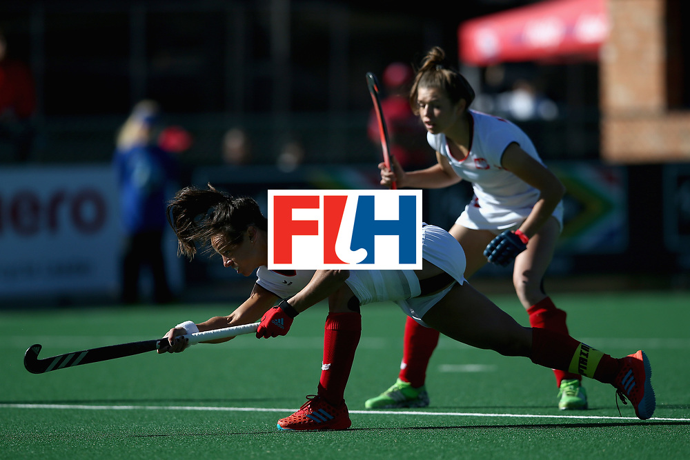 JOHANNESBURG, SOUTH AFRICA - JULY 20: Marlena Rybacha of Poland scores her sides first goal during the 9th/10th Place playoff match between Poland and Chile during Day 7 of the FIH Hockey World League - Women's Semi Finals on July 20, 2017 in Johannesburg, South Africa.  (Photo by Jan Kruger/Getty Images for FIH)