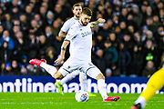 Leeds United midfielder Mateusz Klich (43) passes the ball during the EFL Sky Bet Championship match between Leeds United and Millwall at Elland Road, Leeds, England on 28 January 2020.