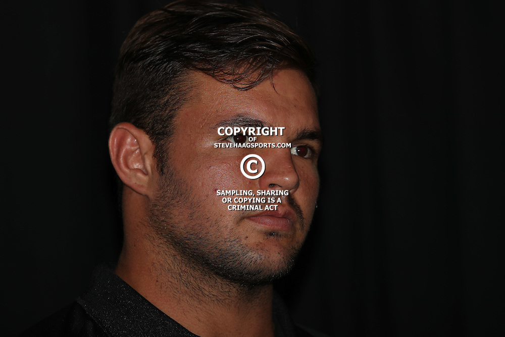 DURBAN, SOUTH AFRICA - FEBRUARY 16: Franco Marais during the Cell C Sharks press conference at Growthpoint Kings Park on February 16, 2017 in Durban, South Africa. (Photo by Steve Haag/Gallo Images)