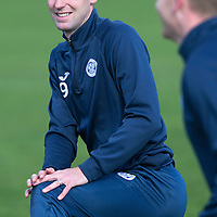 St Johnstone Training...25.09.15<br /> Steven MacLean pictured in training this morning at McDiarmid Park ahead of tomorrow's game against Dundee United.<br /> Picture by Graeme Hart.<br /> Copyright Perthshire Picture Agency<br /> Tel: 01738 623350  Mobile: 07990 594431