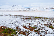 Blo Lagoon in Northeast-Iceland in wintertime