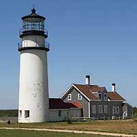Cape Cod Light also called Highland Light. Cape Cod, Massachusetts, USA
