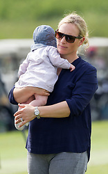 Zara Phillips with her baby Mia at a  celebrity golf event  in aid of Rugby for Heroes at Celtic Manor,Wales, United Kingdom, Monday, 19th May 2014. Picture by  i-Images