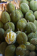 Ben Tanh Market. Fresh tropical fruit. Durians.