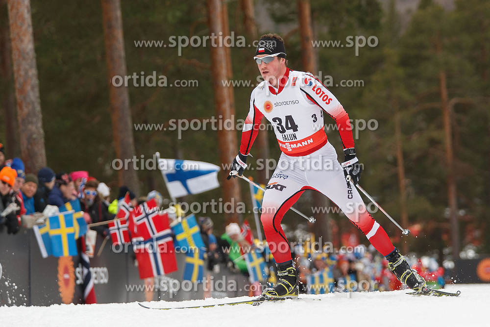 25.02.2015, Lugnet Ski Stadium, Falun, SWE, FIS Weltmeisterschaften Ski Nordisch, Falun 2015, Langlauf, Herren, 15km, im Bild SEBASTIAN GAZUREK // during the Mens 15km Cross Country Race of the FIS Nordic Ski World Championships 2015 at the Lugnet Ski Stadium in Falun, Sweden on 2015/02/25. EXPA Pictures &copy; 2015, PhotoCredit: EXPA/ Newspix/ Radoslaw Jozwiak<br /> <br /> *****ATTENTION - for AUT, SLO, CRO, SRB, BIH, MAZ, TUR, SUI, SWE only*****