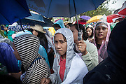 Despite it raining all day, between six and seven million people turned out for a mass by Pope Francis in Rizal Park in Manila.