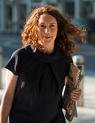 © Licensed to London News Pictures. 07/09/2015. London, UK. REBEKAH BROOKS arriving at News UK offices in London where she is due to return as CEO of News UK (formerly News International) today (MON). Brooks quit the role in 2011 after revelations that the company's journalists hacked the phone of murdered schoolgirl Milly Dowler.  Photo credit: Ben Cawthra/LNP