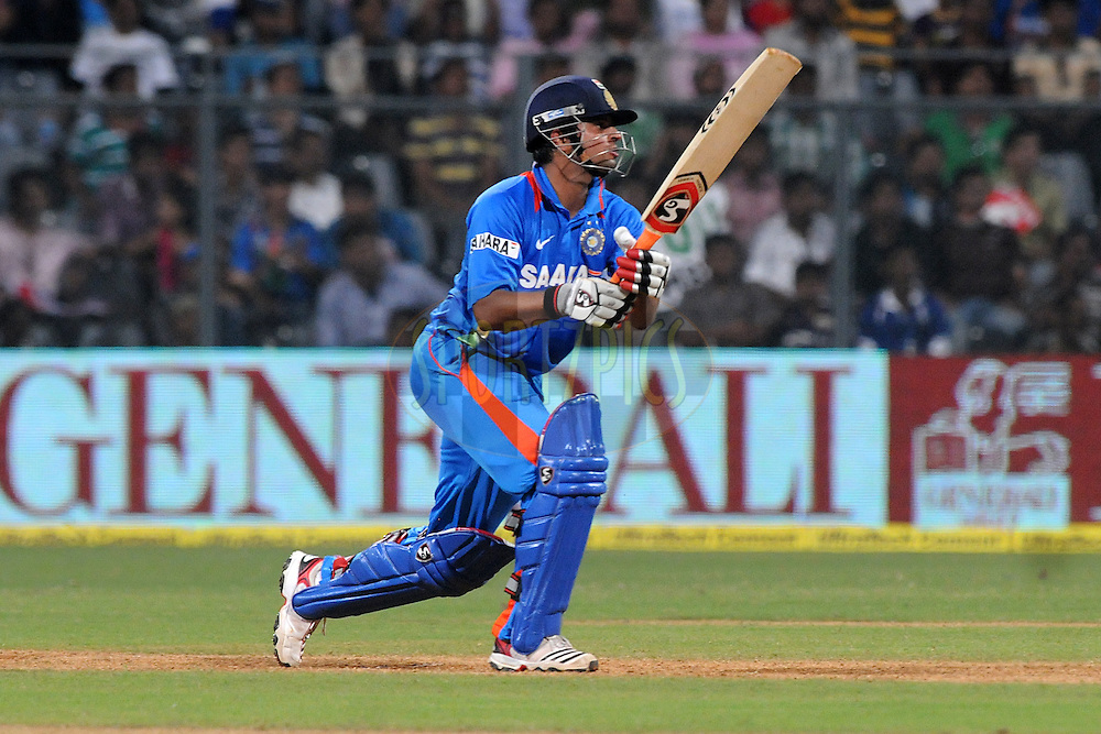 Suresh Raina of India bats during the 4th One Day International ( ODI ) match between India and England held at the Wankhede Stadium, Mumbai on the 23rd October 2011..Photo by Pal Pillai/BCCI/SPORTZPICS.