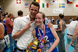 20180509 NED: Eredivisie Coolen Alterno - Sliedrecht Sport, Apeldoorn<br />Lucas Vroom kampioen 1ste divisie met VCN, Lisa Vossen (12) of Sliedrecht Sport kampioen Eredivisie<br />©2018-FotoHoogendoorn.nl