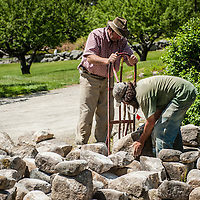 Master Stone Mason, Kevin Fife.<br />