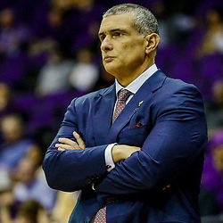 Feb 1, 2017; Baton Rouge, LA, USA; South Carolina Gamecocks head coach Frank Martin against the LSU Tigers during the first half of a game at the Pete Maravich Assembly Center. Mandatory Credit: Derick E. Hingle-USA TODAY Sports