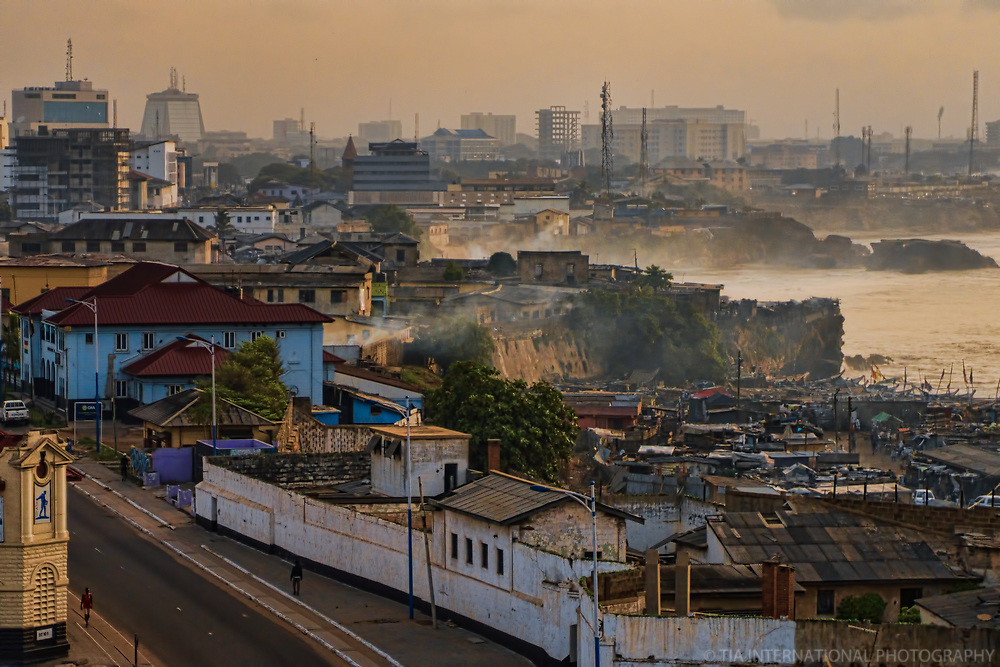 Accra Skyline from Jamestown