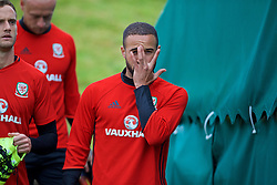 CARDIFF, WALES - Friday, September 2, 2016: Wales' Ashley 'Jazz' Richards during a training session at the Vale Resort ahead of the 2018 FIFA World Cup Qualifying Group D match against Moldova. (Pic by David Rawcliffe/Propaganda)