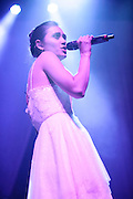 Dia Frampton, former contestant on the talent show The Voice, performing in support of The Fray at the Pageant in St. Louis on May 8, 2012.