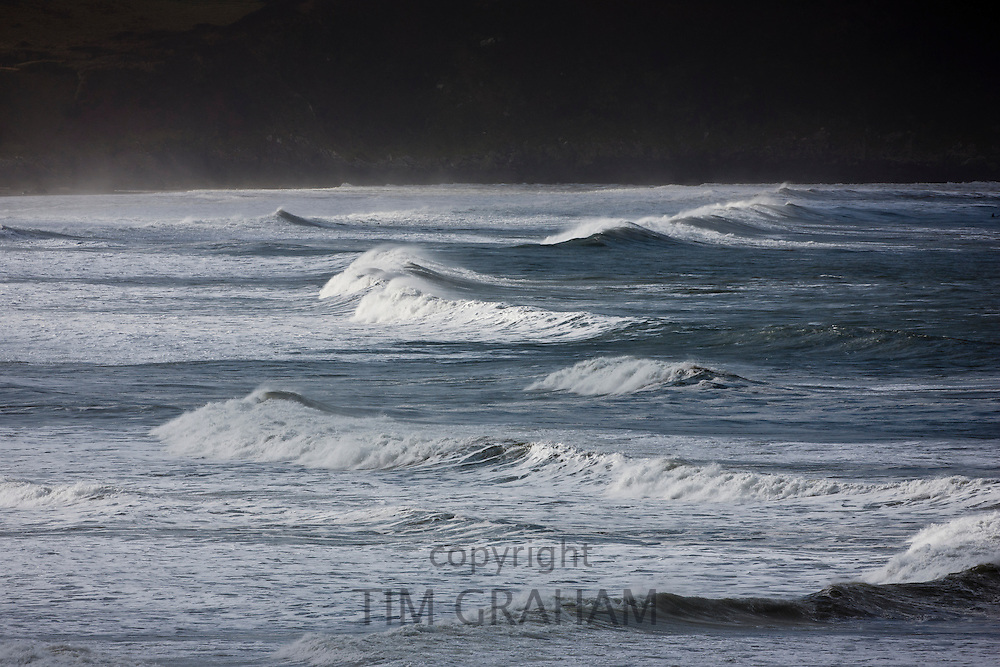 Waves  at Woolacombe Bay, North Devon, UK
