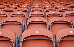 A general view of orange seats at Blackpool's Bloomfield Road stadium - Mandatory by-line: Joe Dent/JMP - 18/02/2018 - FOOTBALL - Bloomfield Road - Blackpool, England - Blackpool v Peterborough United - Sky Bet League One