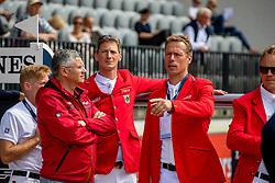 BECKER Otto (Bundestrainer Springen), DEUSSER Daniel (GER), AHLMANN Christian (GER)<br /> Rotterdam - Europameisterschaft Dressur, Springen und Para-Dressur 2019<br /> Parcoursbesichtigung<br /> Longines FEI Jumping European Championship - 1st part - speed competition against the clock<br /> 1. Runde Zeitspringen<br /> 21. August 2019<br /> © www.sportfotos-lafrentz.de/Stefan Lafrentz