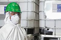 Portrait of male technician in hazmat workwear