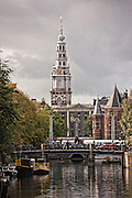The Zuiderkerk bell tower in Amsterdam.