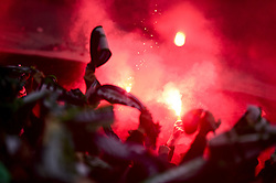 January 16, 2019 - Saint Etienne, France, FRANCE - Supporters de St Etienne - Ambiance.fumigenes (Credit Image: © Panoramic via ZUMA Press)