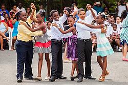(L-R) Shane BeHarry and Amenti Philip, Shawn Walters and Keyshawna John, Jomar Richardson and Jayda Bartlett.  17 December 2015.  Christiansted, St. Croix.   © Aisha-Zakiya Boyd.
