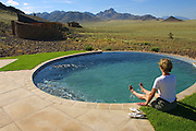 "CC Africa Afro Ventures' luxurious ""Andersson's Africa"" Safari. The pool of CC Africa Afro Venture's Sossusvlei Mountain Lodge."