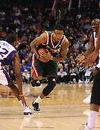 Feb. 2, 2011; Phoenix, AZ, USA; Milwaukee Bucks guard Chris Douglas-Roberts (17) handles the ball against the Phoenix Suns at the US Airways Center. Mandatory Credit: Jennifer Stewart-US PRESSWIRE