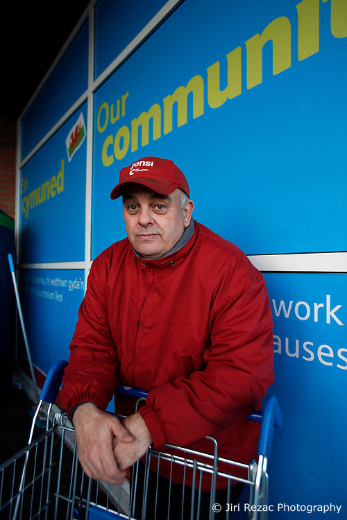 UNITED KINGDOM WALES ANGLESEY 18NOV10 - A shopper named Dave (surname withheld) stands at the Tesco supermarket in Holyhead, Anglesey, north Wales where Prince William serves as an RAF Search and Rescue helicopter pilot...Prince William and his fiancee Kate Middleton have been seen shopping at this store...jre/Photo by Jiri Rezac..© Jiri Rezac 2010