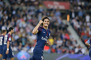 Edinson Roberto Paulo Cavani Gomez (psg) (El Matador) (El Botija) (Florestan) scored a goal from penalty during the French championship L1 football match between Paris Saint-Germain (PSG) and Saint-Etienne (ASSE), on August 25, 2017 at Parc des Princes, Paris, France - Photo Stéphane Allaman / ProSportsImages / DPPI