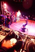 Turntables at UK B-Boy Championships, London, U.K 2004.