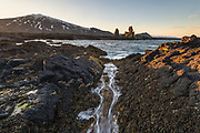 Lóndrangar in west-Iceland