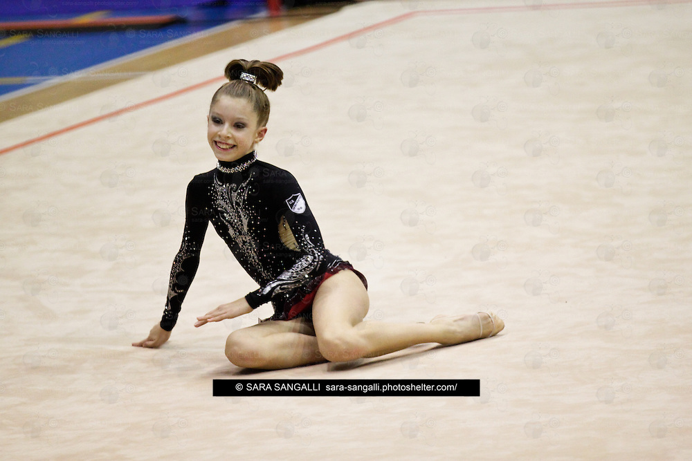 Giorgia REMARTINI of Ritmica Nervianese performing during the 2011 italian Serie A rhythmic gymnastic competition, that took place in Pavia (Italy) on 5th November, 2011.