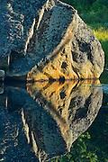Rock reflection at Lake Opeongo<br /> Algonquin Provincial Park<br /> Ontario<br /> Canada