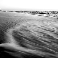 Gentle waves on the shore
