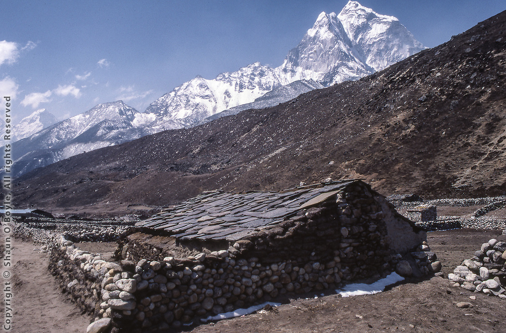Hotel Snow Land, Pheriche, Nepal, in 1987