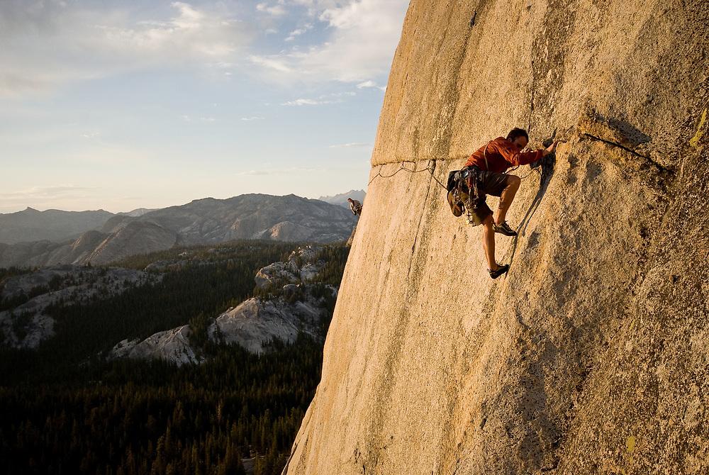 John Schmid, On The Lamb, 5.9 Yosemite, CA