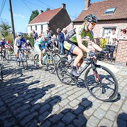 03-04-2016: Wielrennen: Ronde van Vlaanderen vrouwen: Oudenaarde  <br />OUDENAARDE (BEL) cycling  The sixth race in the UCI Womensworldtour is the ronde van Vlaanderen. A race over the famous Flemish climbs. Molenberg Ilona Hoeksema