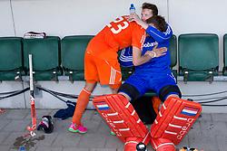 THE HAGUE - Rabobank Hockey World Cup 2014 - 13-06-2014 - MEN - SEMI-FINAL THE NETHERLANDS - ENGLAND 1-0 - Sander de Wijn en Jaap STOCKMANN (GK).<br /> Copyright: Willem Vernes