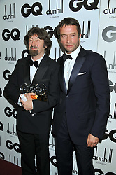 Left to right, Winner of the Alfred Dunhill Cultural Icon SIR TREVOR NUNN and JAMES PUREFOY at the GQ Men of the Year 2011 Awards dinner held at The Royal Opera House, Covent Garden, London on 6th September 2011.