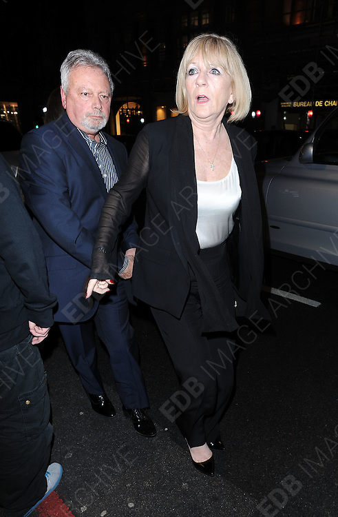 17.FEBRUARY.2012. LONDON<br /> <br /> VICTORIA BECKHAM'S PARENTS ANTHONY ADAMS AND JACKIE ADAMS ATTENDS THE VICTORIA BECKHAM FASHION SHOW AT HARVEY NICHOLS IN LONDON. <br /> <br /> BYLINE: EDBIMAGEARCHIVE.COM<br /> <br /> *THIS IMAGE IS STRICTLY FOR UK NEWSPAPERS AND MAGAZINES ONLY*<br /> *FOR WORLD WIDE SALES AND WEB USE PLEASE CONTACT EDBIMAGEARCHIVE - 0208 954 5968*