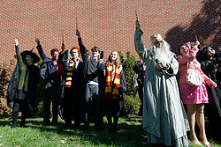 With Potter characthers collectively waving wands the festival is official opened. (Bastiaan Slabbers/for PhillyVoice)