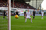 2nd Aug 2019, East End Park, Dunfermline, Fife, Scotland, Scottish Championship football, Dunfermline Athletic versus Dundee;  Danny Johnson of Dundee scores a penalty for 2-2 in the 77th minute