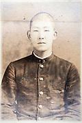deteriorating identy portrait Japanese student ca 1930s